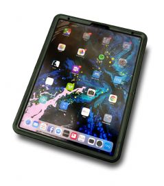 "Rugged '360 grip case' hand strap & tempered glass screen for the Apple iPad Pro 12.9"" v3"